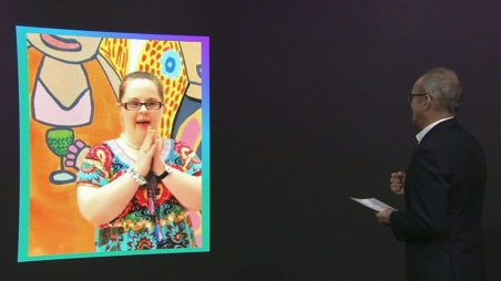 National Arts and Disability Awards 2020. Left to right - Emily Crockford and Adrian Collette AM.
